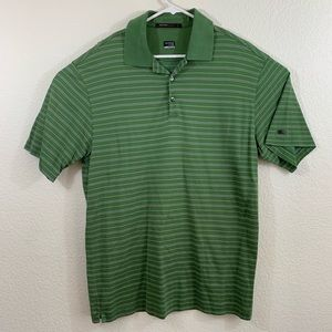 Nike Tiger Woods Green Fit Dry Polo Size Large
